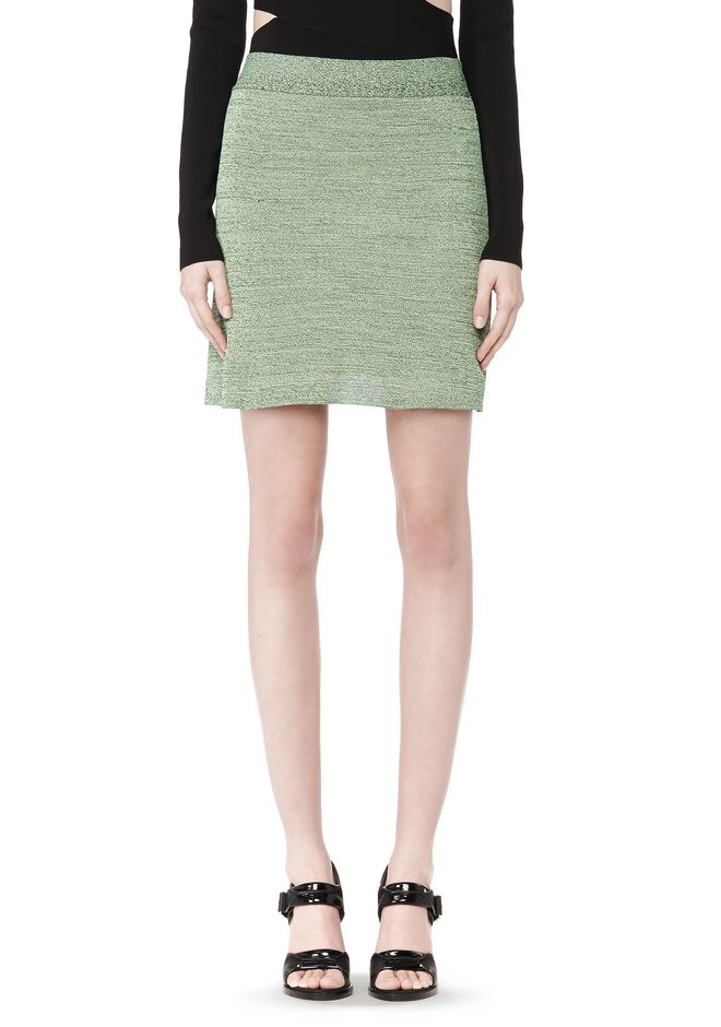 T by ALEXANDER WANG STRETCH RAYON KNIT A-LINE MINI SKIRT SKIRT Adult 12_n_e