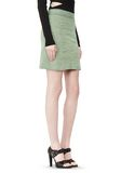 T by ALEXANDER WANG STRETCH RAYON KNIT A-LINE MINI SKIRT SKIRT Adult 8_n_a