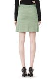 T by ALEXANDER WANG STRETCH RAYON KNIT A-LINE MINI SKIRT SKIRT Adult 8_n_d