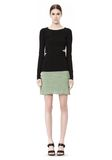 T by ALEXANDER WANG STRETCH RAYON KNIT A-LINE MINI SKIRT SKIRT Adult 8_n_f