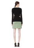 T by ALEXANDER WANG STRETCH RAYON KNIT A-LINE MINI SKIRT SKIRT Adult 8_n_r