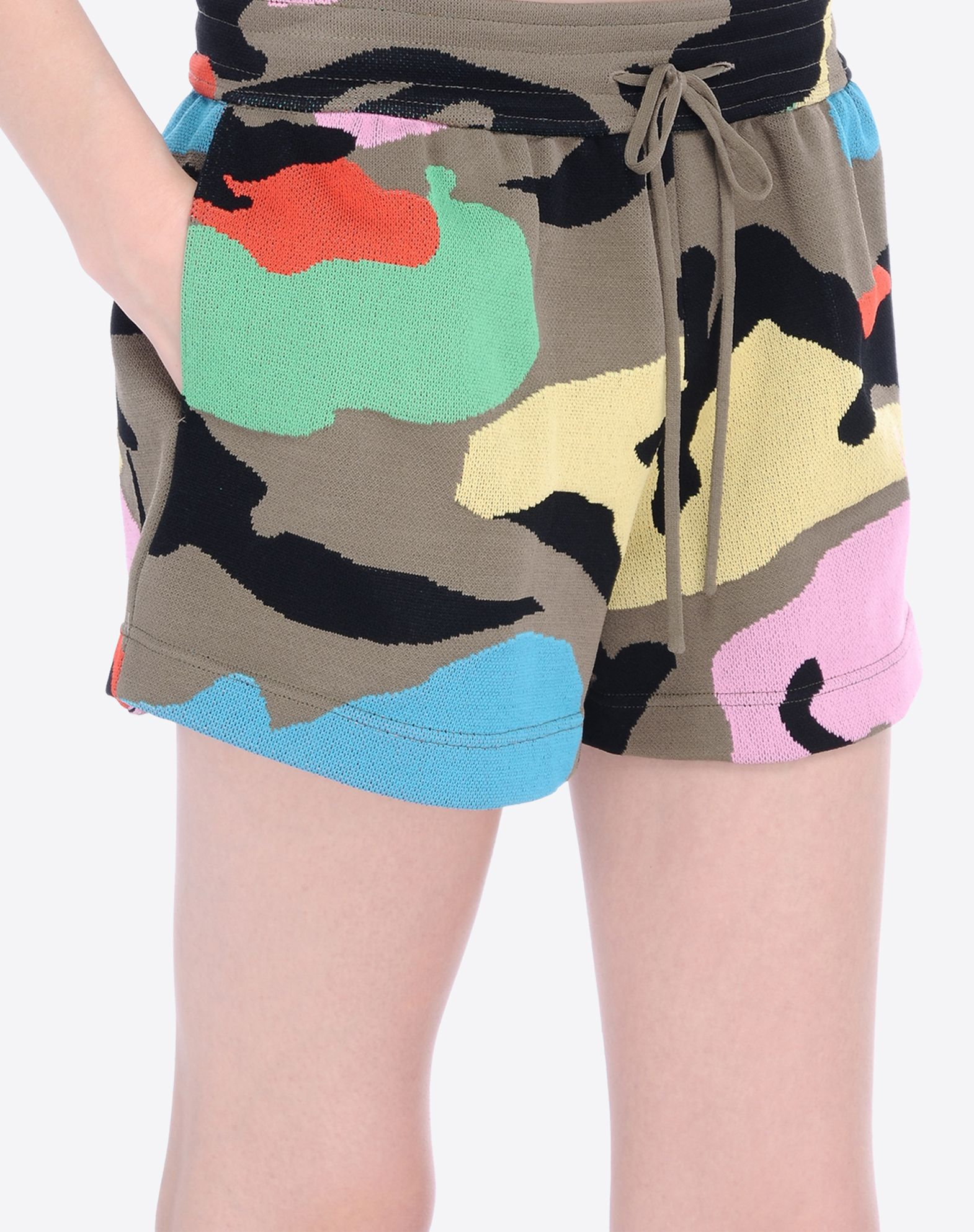 VALENTINO Lightweight sweater Drawstring closure Camouflage design High waisted Two front pockets  36581476bu