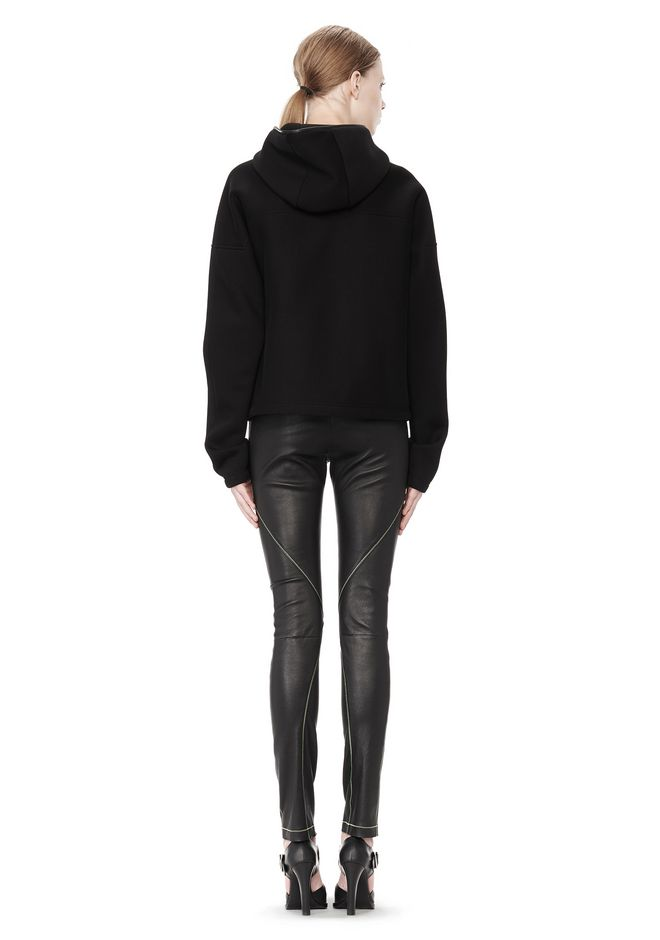 T by ALEXANDER WANG STRETCH LEATHER LEGGINGS WITH STITCH DETAIL PANTS Adult 12_n_r
