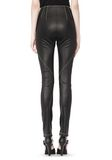 T by ALEXANDER WANG STRETCH LEATHER LEGGINGS WITH STITCH DETAIL PANTS Adult 8_n_a