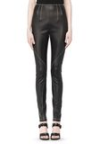 T by ALEXANDER WANG STRETCH LEATHER LEGGINGS WITH STITCH DETAIL PANTS Adult 8_n_d