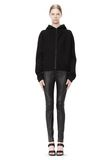 T by ALEXANDER WANG STRETCH LEATHER LEGGINGS WITH STITCH DETAIL PANTS Adult 8_n_f