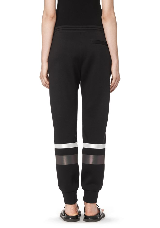 T by ALEXANDER WANG SCUBA SWEATPANTS WITH REFLECTIVE STRIPES PANTS Adult 12_n_a