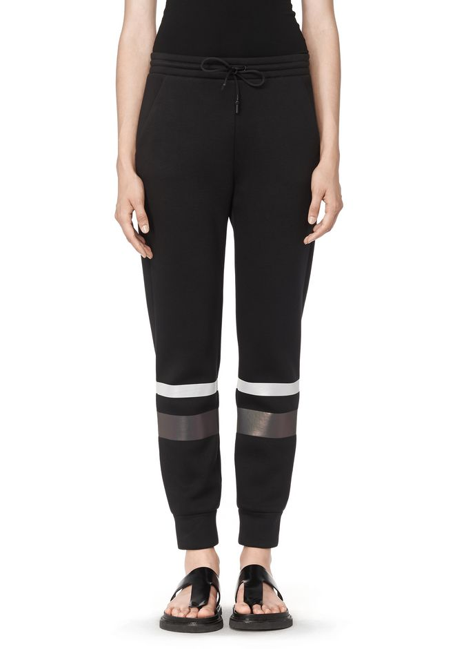 T by ALEXANDER WANG SCUBA SWEATPANTS WITH REFLECTIVE STRIPES PANTS Adult 12_n_d
