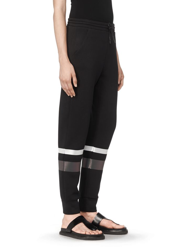 T by ALEXANDER WANG SCUBA SWEATPANTS WITH REFLECTIVE STRIPES PANTS Adult 12_n_e