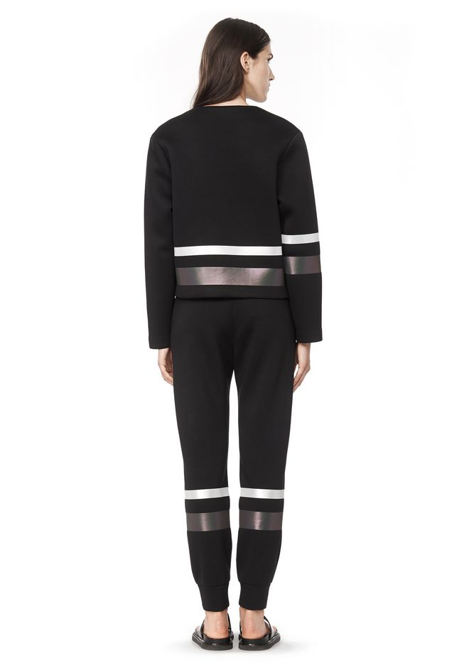 T by ALEXANDER WANG SCUBA SWEATPANTS WITH REFLECTIVE STRIPES PANTS Adult 12_n_r