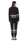 T by ALEXANDER WANG SCUBA SWEATPANTS WITH REFLECTIVE STRIPES PANTS Adult 8_n_r