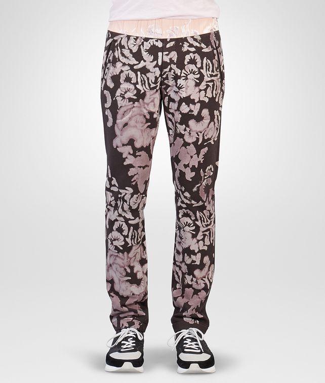 BOTTEGA VENETA Espresso Bleached Cotton Jersey Sweatpants Trousers and Shorts Woman fp