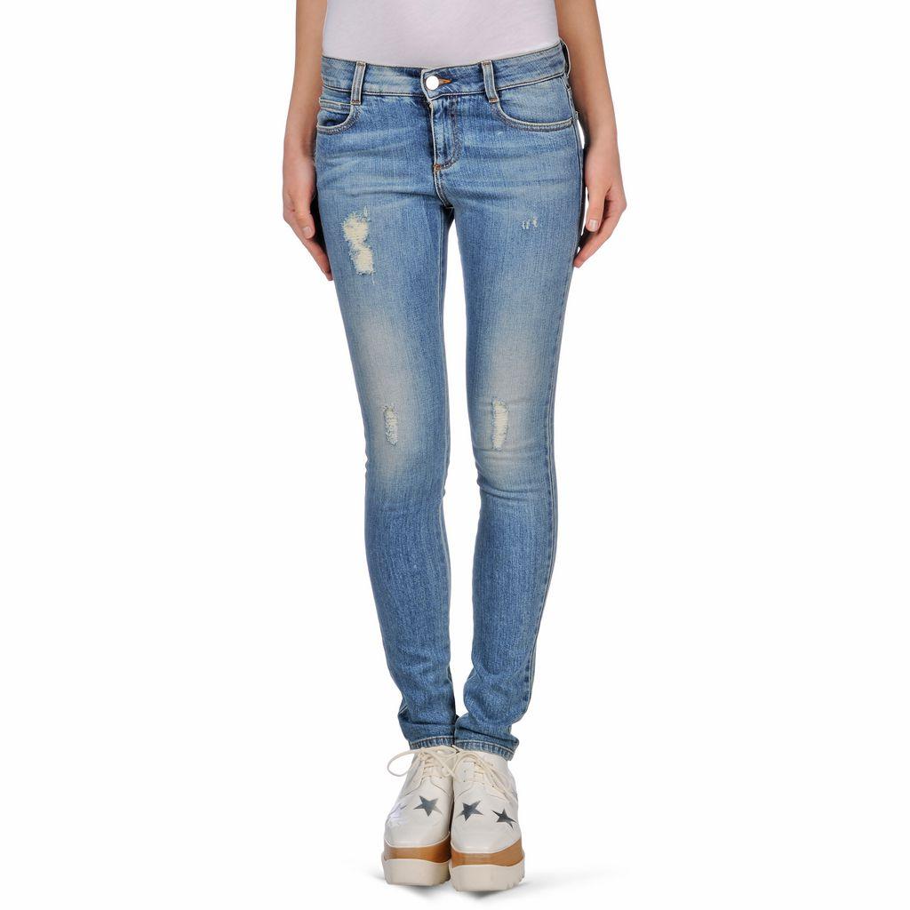 Pale Blue Skinny Long Jeans - STELLA MCCARTNEY