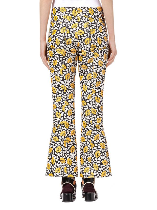 Marni Pants in double cotton and silk Buttercup print Woman