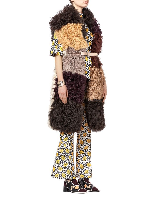 Marni Pants in double cotton and silk Buttercup print Woman - 4