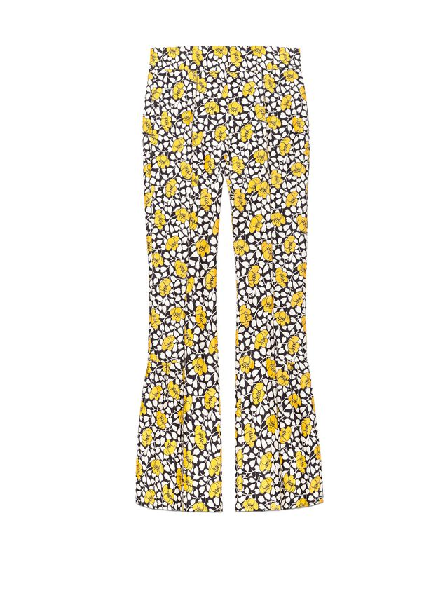 Marni Pants in double cotton and silk Buttercup print Woman - 2