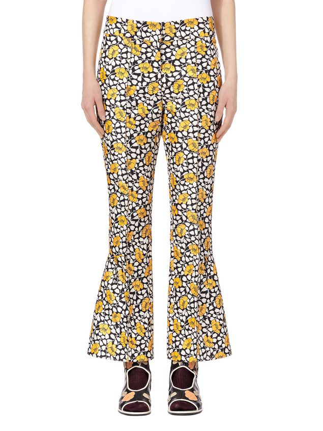 Marni Pants in double cotton and silk Buttercup print Woman - 1