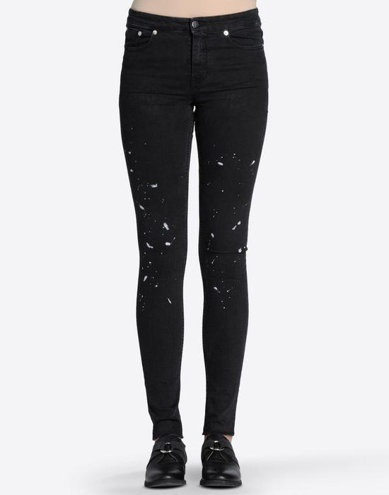 maison margiela skinny jeans with paint splash detail women. Black Bedroom Furniture Sets. Home Design Ideas