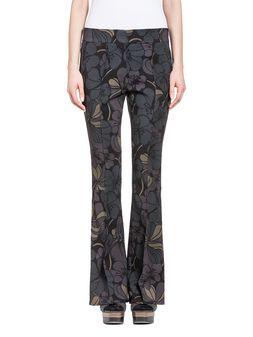 Marni pantaloni in lana double stretch stampa Pimpernel Donna