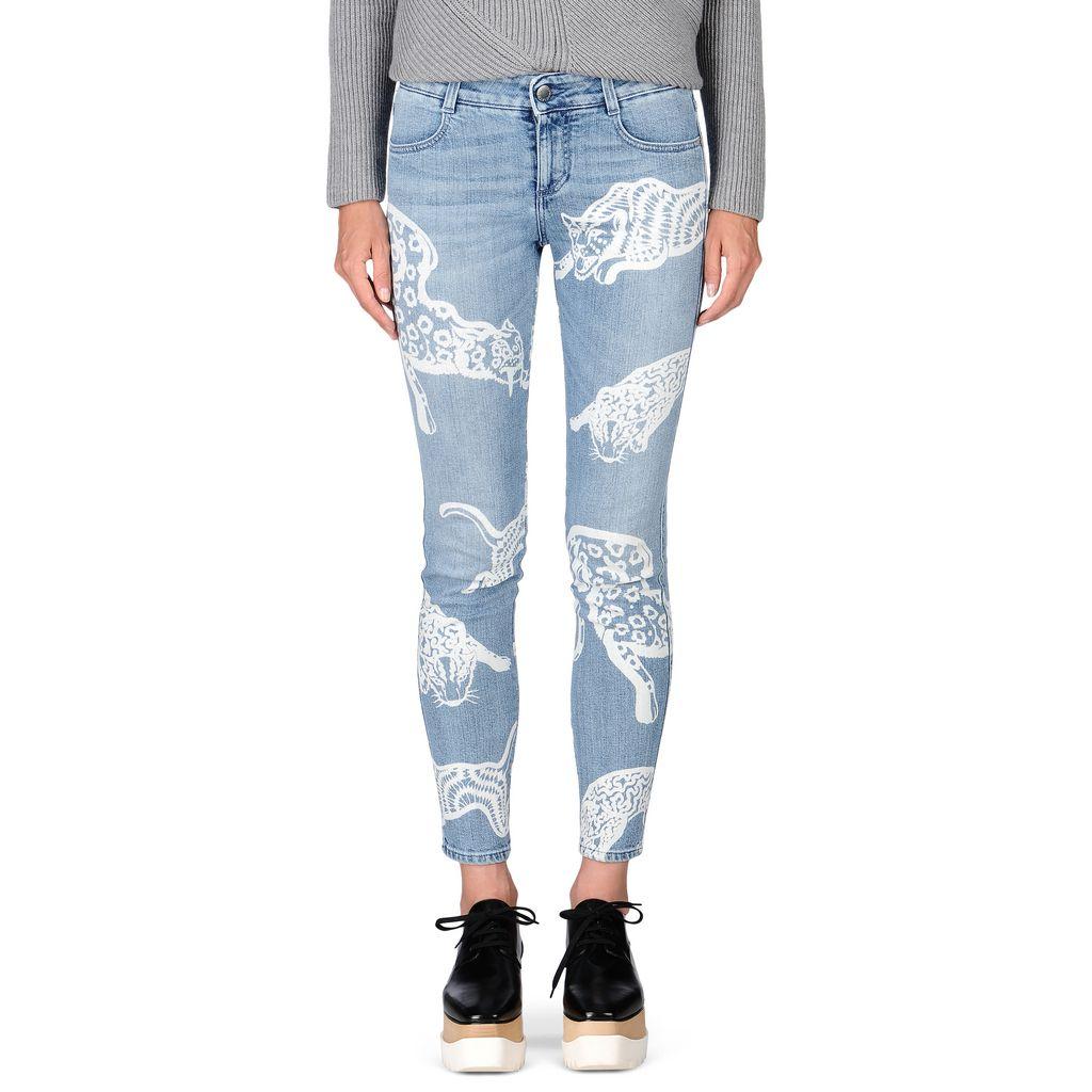 White Wild Cat Skinny Ankle Grazer Jeans - STELLA MCCARTNEY