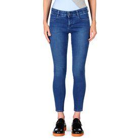 Pale Blue Skinny Ankle Grazer Jeans