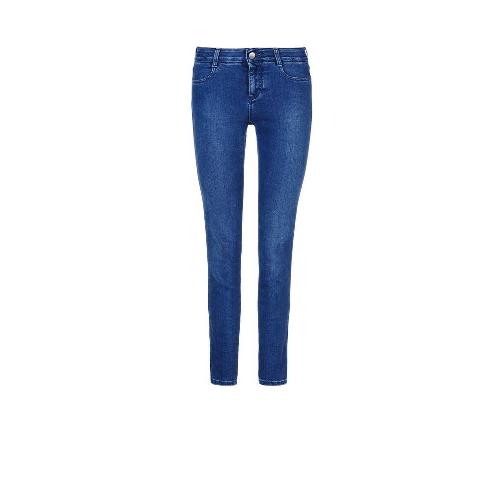 Pale Blue Skinny Ankle Grazer Jeans - STELLA MCCARTNEY