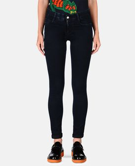 Blue-Black Skinny Long Jeans