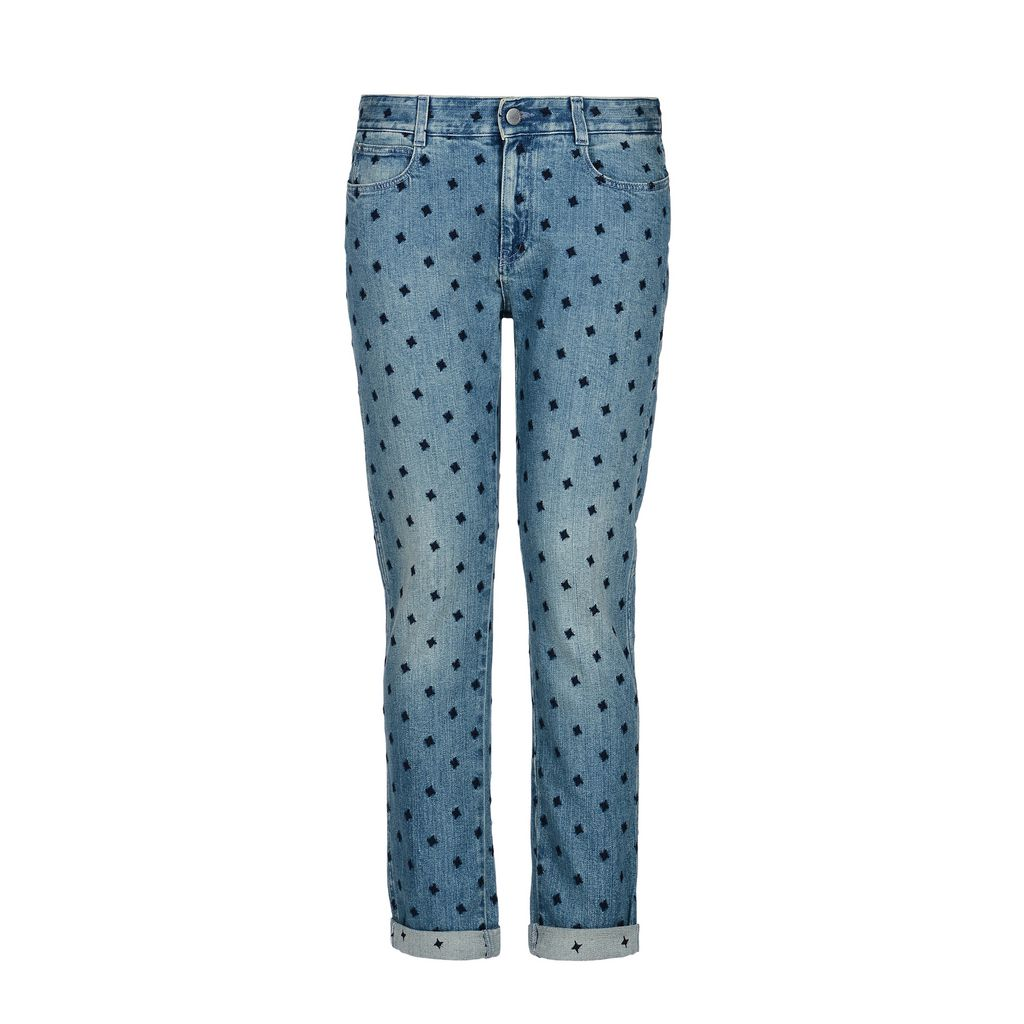 Blue Skinny Boyfriend Blue Star Jeans  - STELLA MCCARTNEY