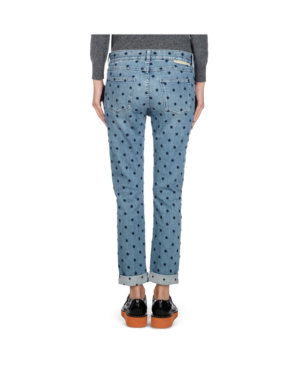Blue Skinny Boyfriend Blue Star Jeans  - STELLA MCCARTNEY