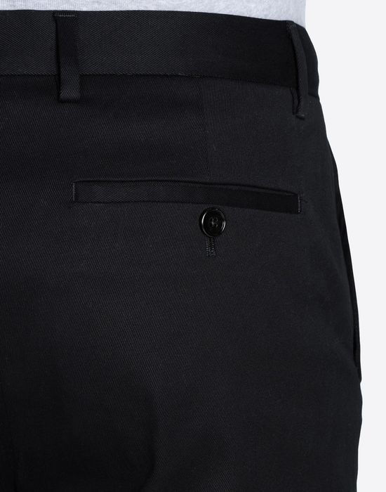 MAISON MARGIELA 14 Pantaloni in cotone con orlo al vivo Pantalone [*** pickupInStoreShippingNotGuaranteed_info ***] a