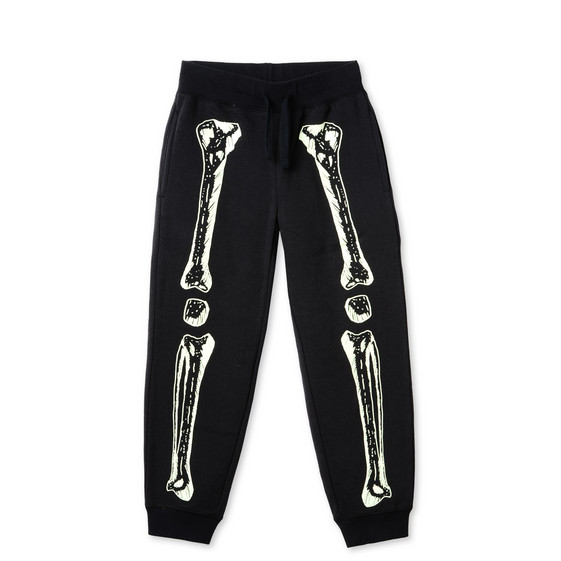 GLOW IN THE DARK l Zachary Black Skeleton Print Trousers
