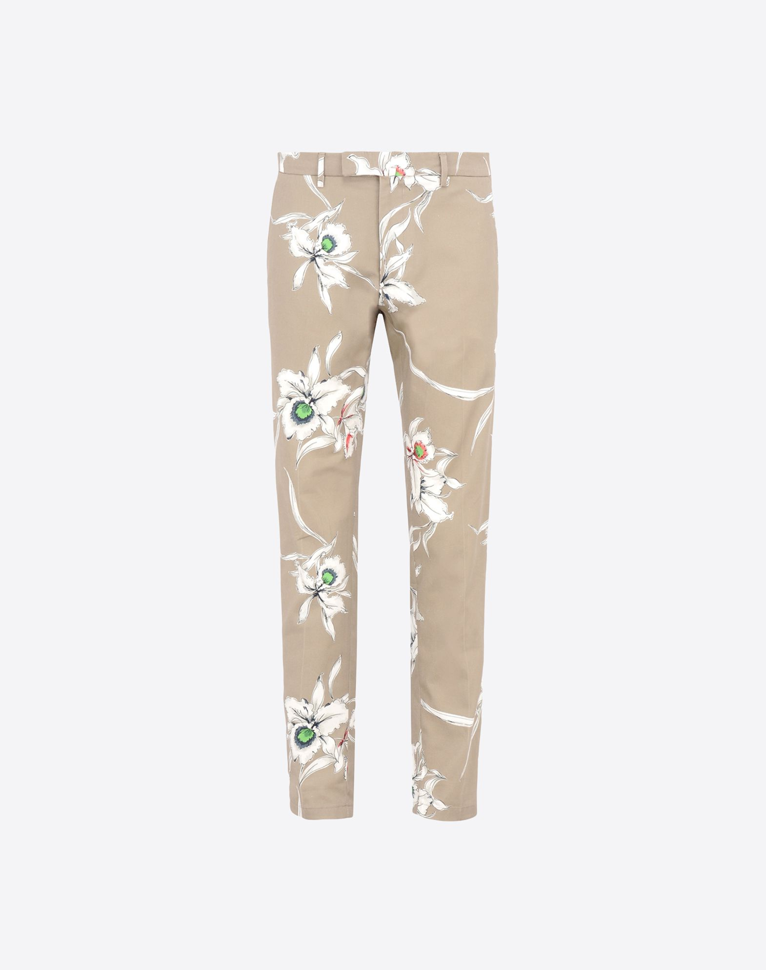 VALENTINO Logo Gabardine Floral design Hook-and-bar, zip Four pockets  36725859iu