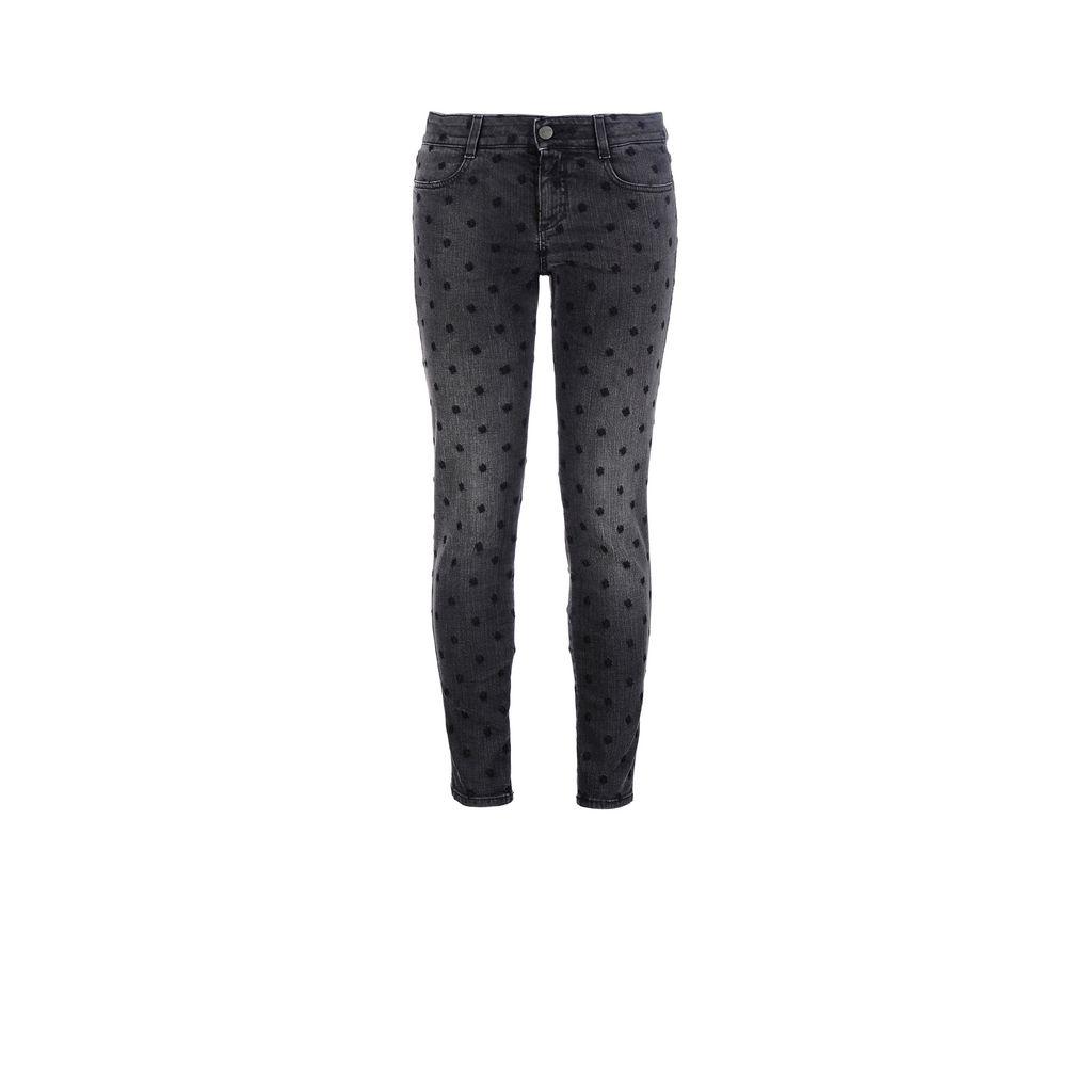 Black Skinny Ankle Grazer Jeans - STELLA MCCARTNEY