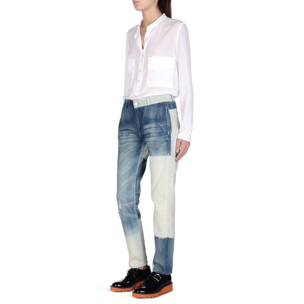 Faded Blue Patchwork Boyfriend Jeans - STELLA MCCARTNEY