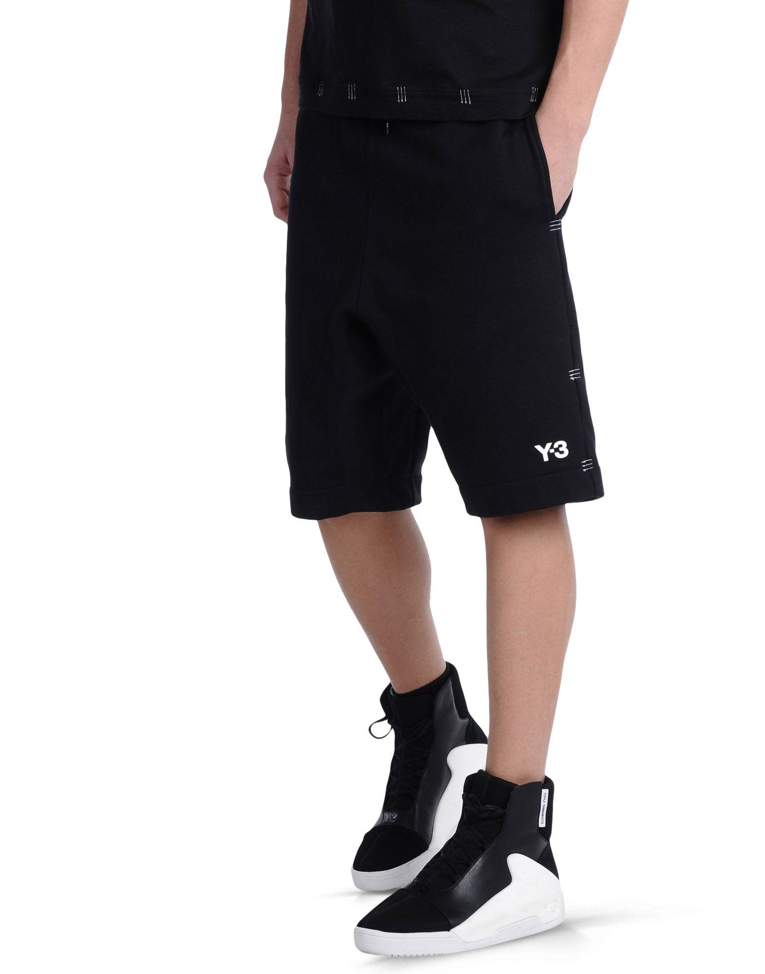 ... Y-3 Y-3 BAR TACK SHORT Bermuda shorts Man ... d28864b13919