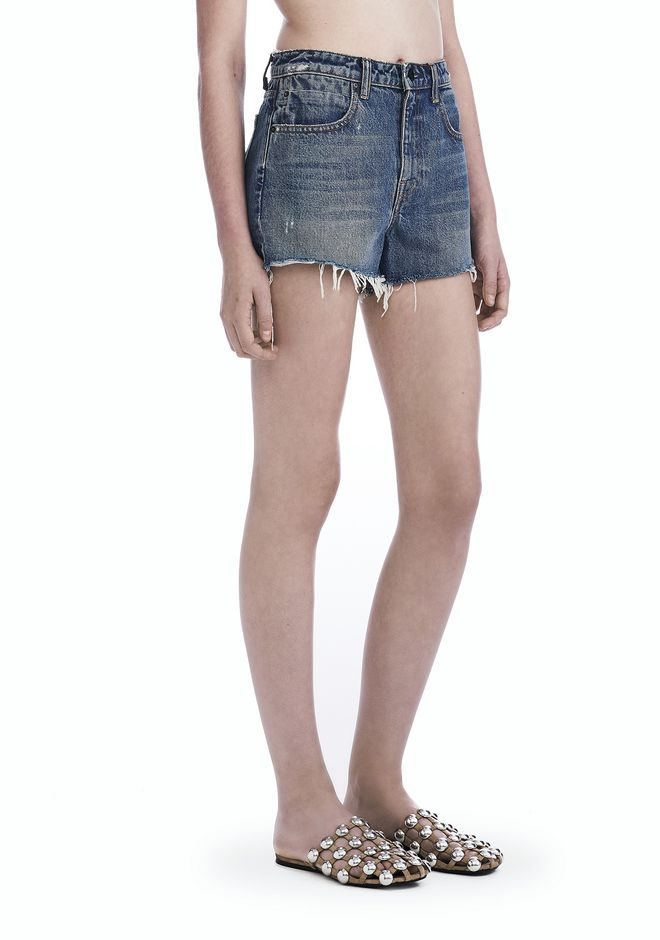 ALEXANDER WANG denim-x-aw BITE CUT-OFF DENIM SHORTS