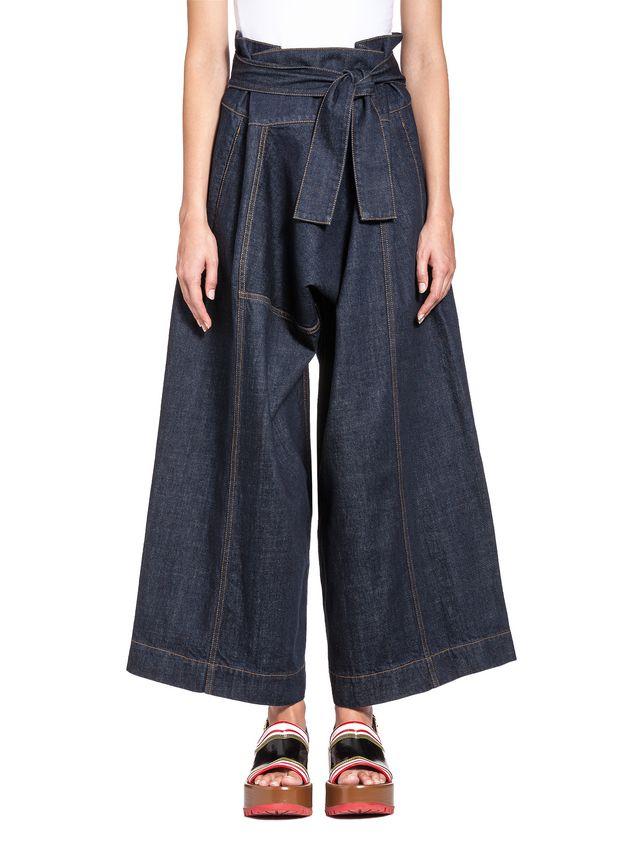 Marni Wide-leg pants in medium-weight denim Woman - 1
