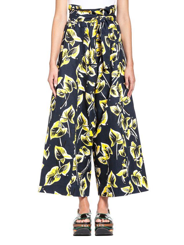 Marni Pants in cotton-and-linen gabardine Woman - 1