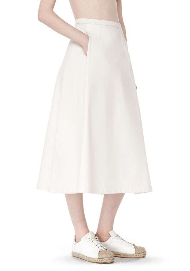 T by ALEXANDER WANG t-by-alexander-wang-sale MIDI PLEATED SKIRT