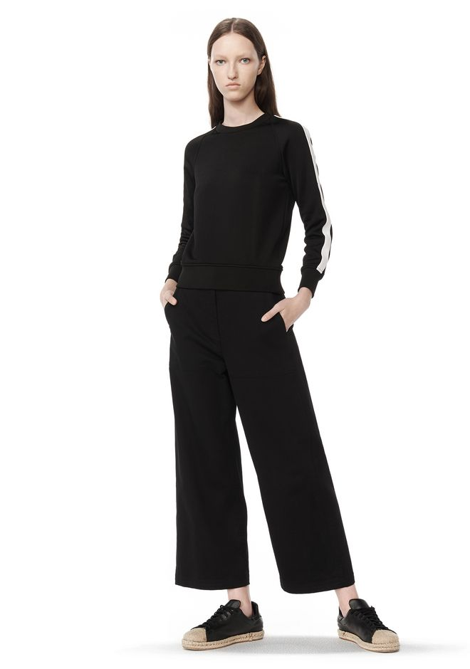 CROPPED WIDE LEG PANTS | PANTS | Alexander Wang Official Site