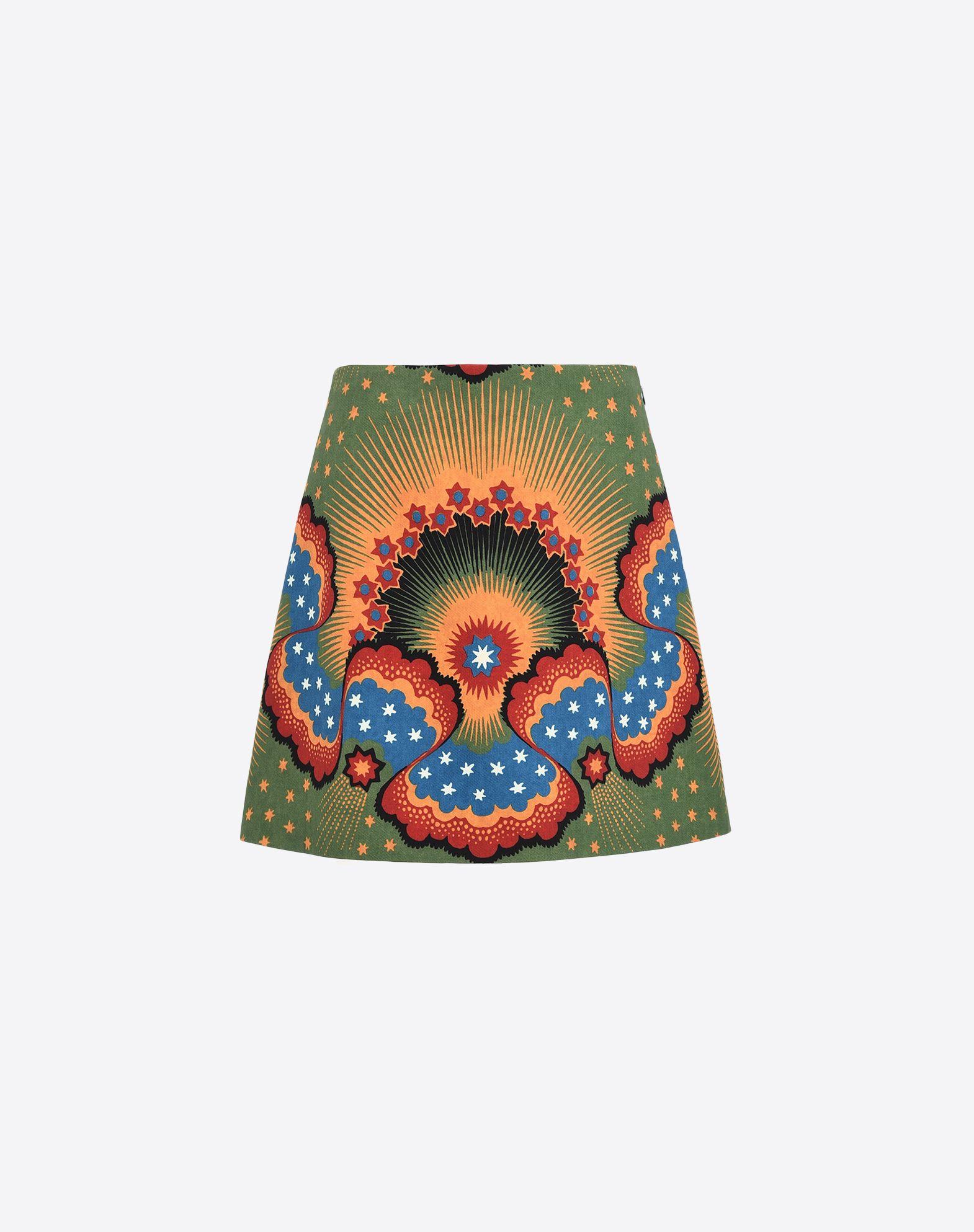 VALENTINO Crêpe Multicolour Pattern Mid Rise Zip Lined interior  36844518kd