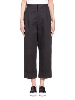Marni Pants in cotton drill crepe with turn-up Woman