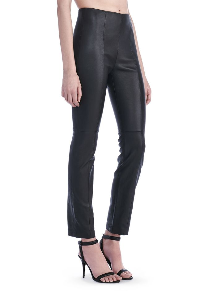 T by ALEXANDER WANG PANTS STRETCH LEATHER LEGGINGS