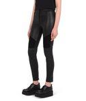 Leather biker pant