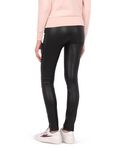 Leather biker legging