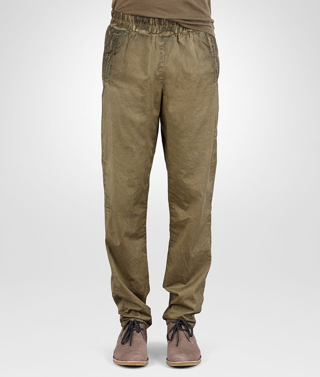 BOTTEGA VENETA PANTS IN DARK SERGEANT POPELINE COTTON Trouser or jeans Man fp