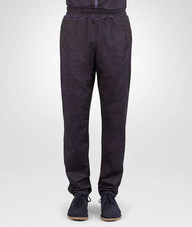 BOTTEGA VENETA PANTS IN DARK NAVY POPELINE COTTON Trouser or jeans Man fp