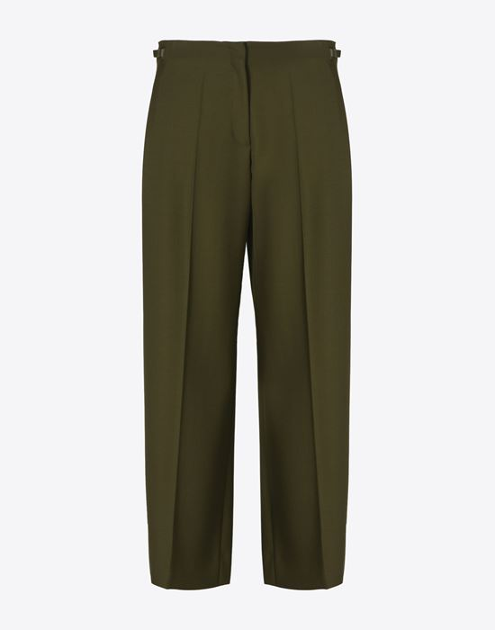 MAISON MARGIELA 4 Cropped virgin wool trousers Casual pants D f