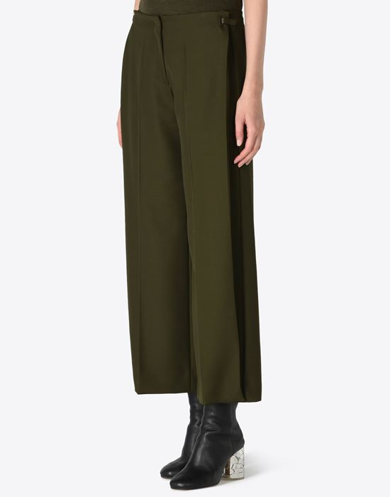 MAISON MARGIELA 4 Cropped virgin wool trousers Casual pants D r