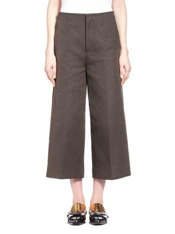 Marni Palazzo pants in crepe cotton drill Woman